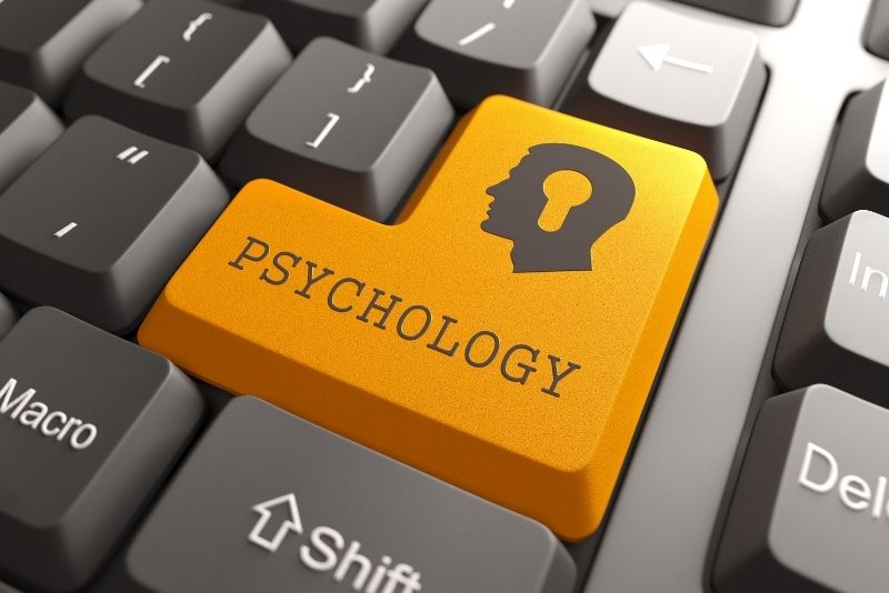 A keyboard having psychology button in place of enter button.